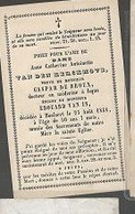 15 08/ W2//  ° HOOLAERT??  1798?   + HOOLAERT 1848   ANNE VAN DEN KERCKHOVE - Religion & Esotérisme