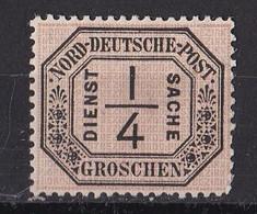 Norddeutscher Bund 1870 - Dienstmarke Mi.Nr. 1 - Ungebraucht Mit Gummi Und Falz MH - North German Conf.