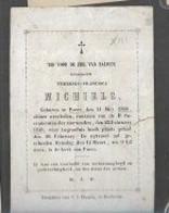 15 08/ W2//  °  PUURS 1768 + 1848  THERESIA MICHIELS - Religion & Esotérisme