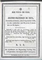 15 08/ W2//  °  EECLOO ?  1761?? + EECLOO 1845   JOANNES DE NEVE - Religion & Esotericism