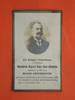 Hendrik Vandenabeele - Aendenboom Geboren  Te Wytschate 1866 Overleden Te St.Amandsberg 1925  (2scans) - Religione & Esoterismo
