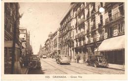 POSTAL  GRANADA  -ANDALUCIA  -GRAN VIA - Granada