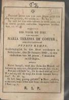 15 08/ W3//  °  NEERYSSCHE?? 1755??  + NEERRYSCHE 1841 MARIA DE COSTER - Religion & Esotérisme
