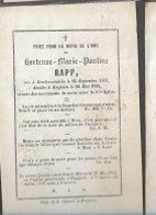 15 08/ W3//  °  DENDERWINDEKE 1831 + ENGHIEN 1854  HORTENSE RAPP - Religion & Esotericism