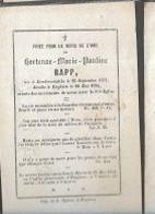 15 08/ W3//  °  DENDERWINDEKE 1831 + ENGHIEN 1854  HORTENSE RAPP - Religion & Esotérisme