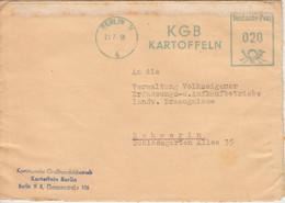 DDR - Berlin 1956 20 Pfg. AFS KGB Kartoffeln Brief N. Schwerin - Briefe U. Dokumente