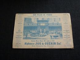 Petit Calendrier Publicitaire Très Ancien 1876  Aux Villes De France 74 Rue Royale à TOURS Grands Magasins De Nouveautés - Small : ...-1900
