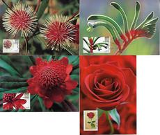 Australia 2008 4 Postal Stationery Maximum Card Flora Flower Rose Plant - Altri