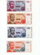 Lot De 5 Billets Bosnie Herzegovine Et Republique Serbe De Bosnie - Bosnien-Herzegowina