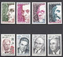 France Personnages Célèbres (1974) Séries 1784/1785 + 1822/1823 + 1824/1827 Neufs ** - Neufs