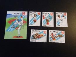 P60 -Bloc And Set  Used Cuba 1995  -  Olympics Atlanta - - Summer 1996: Atlanta