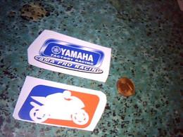 Publicité Autocollant X2  Non Utilisé 1 Non Logo Moto 1 Yamaha Ama Pro Racing   ( Moto, Scooter, 2 Roues ..) - Autocollants