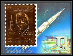 Yemen Royaume (kingdom) - 4139  Bloc N°172 B Kennedy Espace (space) OR Gold Stamps 1969 ** MNH - Yemen