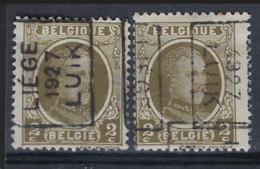 HOUYOUX Nr. 191 Voorafgestempeld Nr. 3889 A + B  LIEGE 1927 LUIK  ; Staat Zie Scan ! - Roller Precancels 1920-29