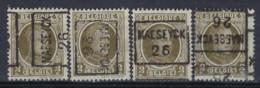HOUYOUX Nr. 191 Voorafgestempeld Nr. 3719 A + B + C + D MAESEYCK 26 ; Staat Zie Scan ! - Roller Precancels 1920-29