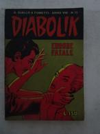 #  DIABOLIK N 15 ANNO VIII° (OTTAVO / 8° ) 1969 - ERRORE FATALE - Diabolik