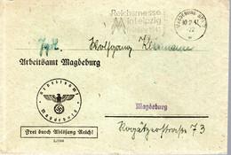 LETTRE 1941 - POSTEE A MAGDEBOURG - OBLIT. MECANIQUE - EXPOSITON DU REICH A LEIPZIG - - Briefe U. Dokumente