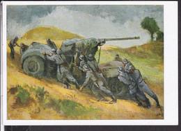 """Postkarte """" Das Bild Des Krieges """" , Ausstellung Luftgaukommando VI. , """" Stellungswechsel """" - Guerra 1939-45"""