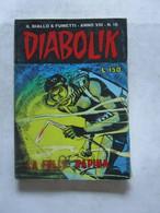 #  DIABOLIK N 18 ANNO VIII° (OTTAVO / 8° ) 1969 - LA FOLLE RAPINA - Diabolik
