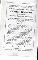 15 08/ W5/   ° KOEWACHT 1798 ??   + 1873    CAROLUS IJSEBAERT - Religion & Esotérisme