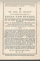 15 08 X1//   ° DENDERWINDEKE 1868 + 1898  LUCIA VAN STALLE - Religion & Esotérisme