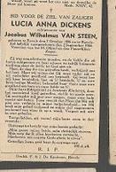15 08 X1//  W.O.II ??:  °   RAVELS 1886  NEERGESCHOTEN 1944  LUCIA DICKENS - Religion & Esotericism