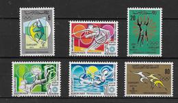 1972 Tunisie N° 663 à 670  Nf** MNH . Jeux Olympiques De Munich. - Tunisia (1956-...)