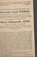 15 08 X1//   CONCENTRATIEKAMP : °     ARENDONK 1913 + ELLRICH  1944  GEERAART STORMS + ZIJN ECHTGENOTE M JORIS - Religion & Esotericism