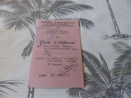 62 - Carte D'Adhérent, Union Cantonales Des Sociétés Mutualistes De Montpellier Et Ses 3 Cantons, 1975 - Historical Documents