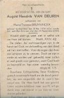 15 08 X1//  W.O. II: ° ARENDONK 1906 Getroffen Door Mijn  1944  AUGUST VAN DEUREN - Religion & Esotericism