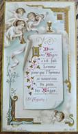 Image Pieuse Religieuse - Anges - Ed. Blanchard, Orléans 1897  - TBE - Devotion Images