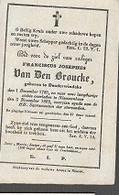 15 08 X2//   ° DENDERWINDEKE 1785  + NIEUWENHOVE 1862 - Religion & Esotérisme