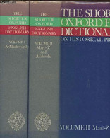 The Shorter Oxford English Dictionary Tome I Et II (2 Volumes) A-Z - Little William, Fowler H.W., Couson Jessie, Onions - Dictionaries, Thesauri