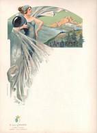 L'Améthyste D Après LESSIEUX, Art Nouveau, Menu St Même Cognac Grande Fine Champagne B Léon CROIZET FEMME - Menus