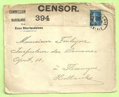 Franse Zegel Op Brief COMMISSION DE LIQUIDATION DES MARCHANDISES EN SOUFFRANCE Stempel CALAIS (B9461 - Esercito Belga