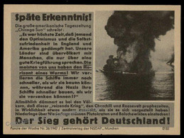 3rd Reich Germany Goebbels Parole Der Woche Propaganda Plakat Sheetlet G72260 - Non Classés