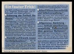 3rd Reich Germany Goebbels Parole Der Woche Propaganda Plakat Sheetlet G72274 - Non Classés