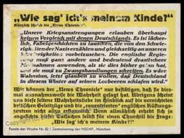 3rd Reich Germany Goebbels Parole Der Woche Propaganda Plakat Sheetlet G72292 - Non Classés
