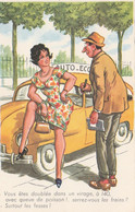 CPSM Grivoise Pin-up Sexy Glamour Girl Moniteur Auto-Ecole Humour Illustrateur J. CHAPERON N° 961   2 Scans - Chaperon, Jean