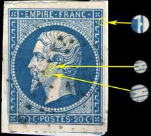 France - Yv.14A 20c Empire T.1 Planché 062D2 - Oblitéré B - 1853-1860 Napoléon III