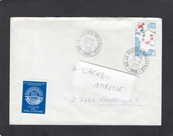 """LETTRE AVEC CACHET """"LE PLESSIS-BELLEVILLE"""". - Lettres & Documents"""