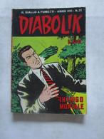#  DIABOLIK N 21 ANNO VIII° (OTTAVO / 8° ) 1969 - INTRIGO MORTALE - Diabolik