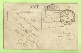"Kaart Verzonden ""Hopital Elisabeth CALAIS"" Stempel PMB 6 17/4/17 Naar BULSCAMP , Stempel VEURNE (3513) - Esercito Belga"