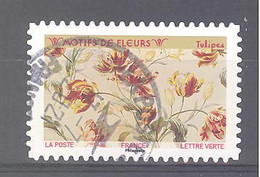 France Autoadhésif Oblitéré (Motifs De Fleurs : Tulipes) (cachet Rond) - 2010-.. Matasellados