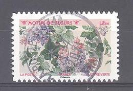 France Autoadhésif Oblitéré (Motifs De Fleurs : Lilas) (cachet Rond) - 2010-.. Matasellados