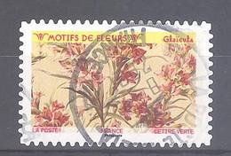 France Autoadhésif Oblitéré (Motifs De Fleurs : Glaïeuls) (cachet Rond) - 2010-.. Matasellados
