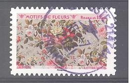 France Autoadhésif Oblitéré (Motifs De Fleurs : Roses Et Lilas) (cachet Rond) - 2010-.. Matasellados