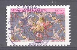 France Autoadhésif Oblitéré (Motifs De Fleurs : Roses Et Muguet) (cachet Rond) - 2010-.. Matasellados
