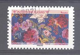 France Autoadhésif Oblitéré (Motifs De Fleurs : Roses) (cachet Rond) - 2010-.. Matasellados