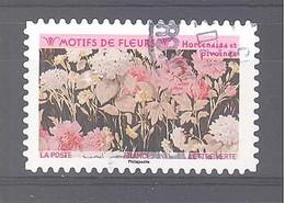 France Autoadhésif Oblitéré (Motifs De Fleurs : Hortensias Et Pivoines) (cachet Rond) - 2010-.. Matasellados